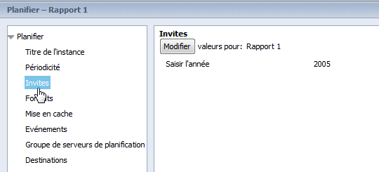 SAP BusinessObjects Webi - Planifier un document 14