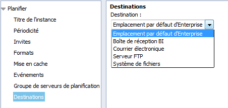 SAP BusinessObjects Webi - Planifier un document 16