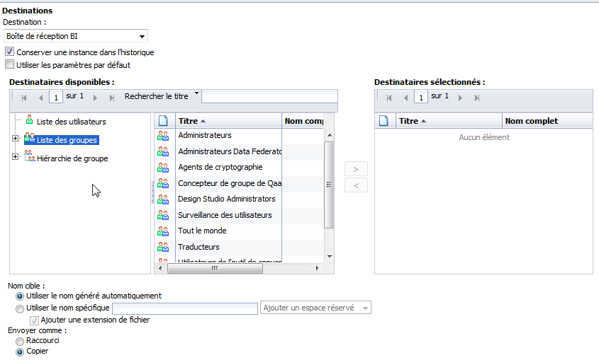SAP BusinessObjects Webi - Planifier un document 17