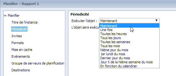 SAP BusinessObjects Webi - Planifier un document 3