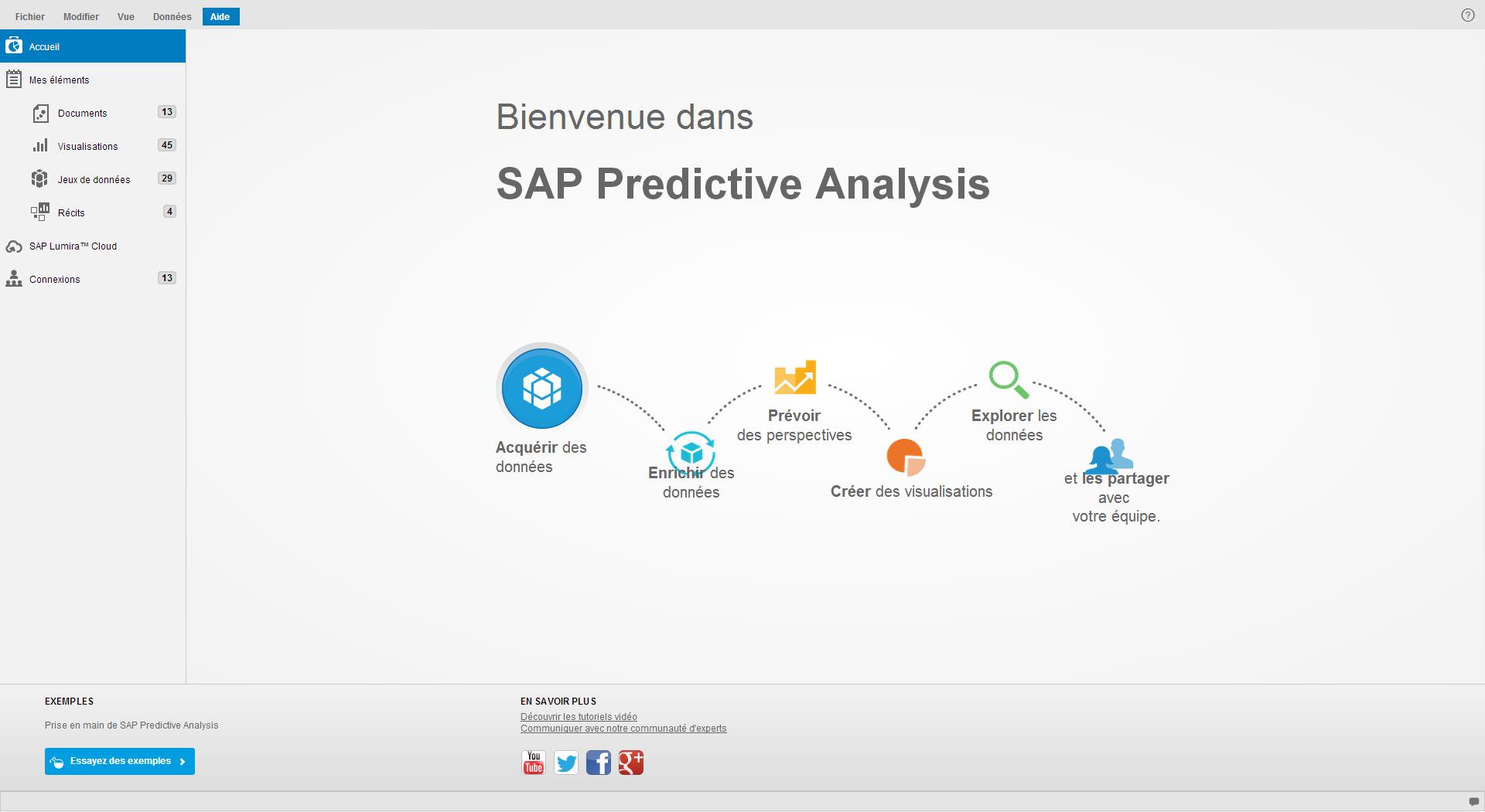SAP Predictive Analysis - Intégrer un fichier CSV 1